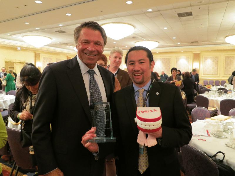 Chief Nerd Jim with David Novak, the executive Chairman of YUM! Foods.