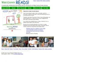 west county reads old website
